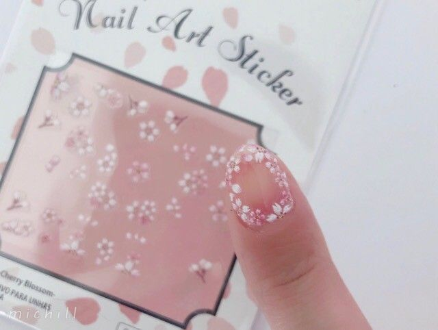 ダイソー ネイルシール 桜